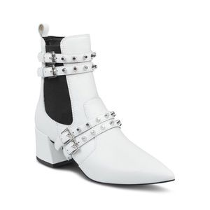 Kendall + Kylie Rad Pointed Toe Leather Booties